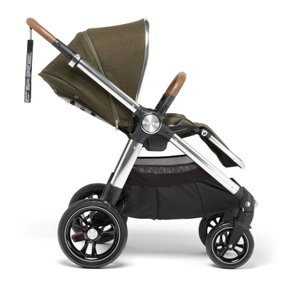 Mamas & Papas Ocarro Explorer Stroller in Khaki side view