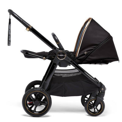 Mamas & Papas Ocarro Jewel Stroller in Black Diamond lie flat position