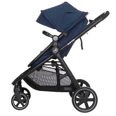 Maxi-Cosi Zelia Travel System in Aventurine Blue side view