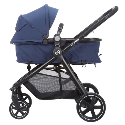 Maxi-Cosi Zelia Travel System in Aventurine Blue carriage mode