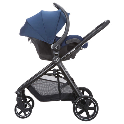 Maxi-Cosi Zelia Travel System in Aventurine Blue with Mico 30 car seat