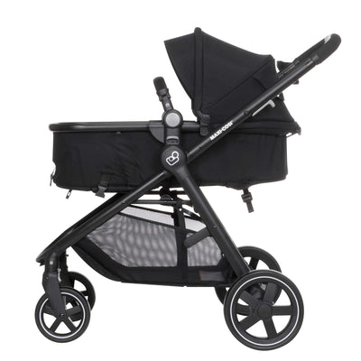 Maxi-Cosi Zelia Travel System in Night Black in carriage mode