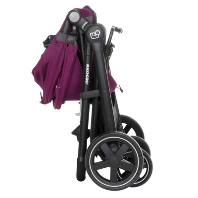 Maxi-Cosi Zelia Travel System in Violet Caspia folded