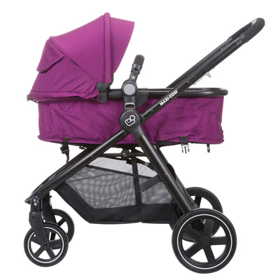 Maxi-Cosi Zelia Travel System in Violet Caspia in carriage mode