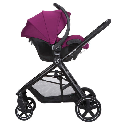 Maxi-Cosi Zelia Travel System in Violet Caspia with Mico 30 car seat