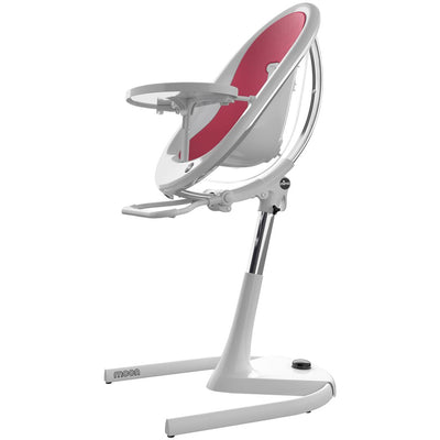 Mima Moon 2G White High Chair in Fuchsia