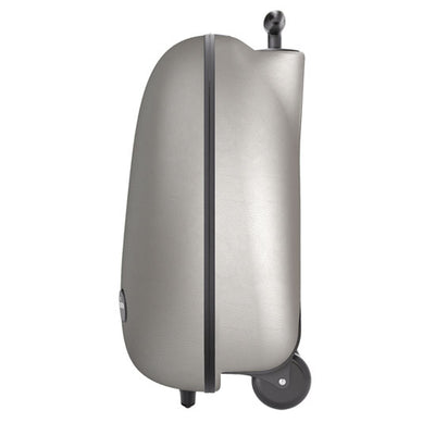 Mima Ovi Trolley Hardshell Suitcase in Argento Side View