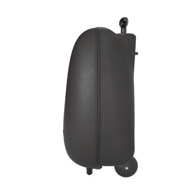 Mima Ovi Trolley Hardshell Suitcase in Black Side View