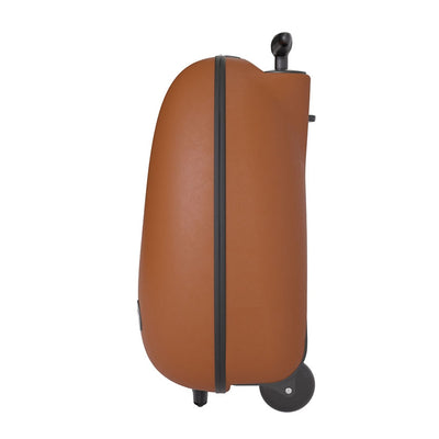 Mima Ovi Trolley Hardshell Suitcase in Camel Side View