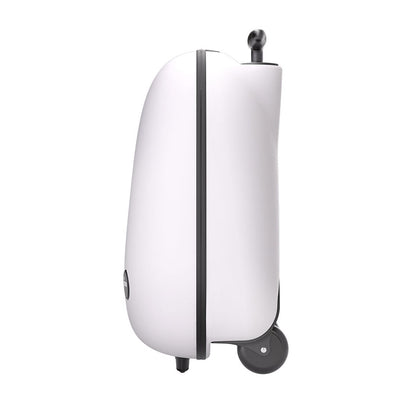 Mima Ovi Trolley Hardshell Suitcase in Snow White Side View