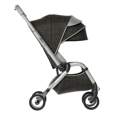 Mima Zigi Stroller in Charcoal Side View
