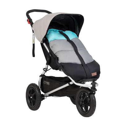 Mountain Buggy Sleeping Bag in Ocean on stroller