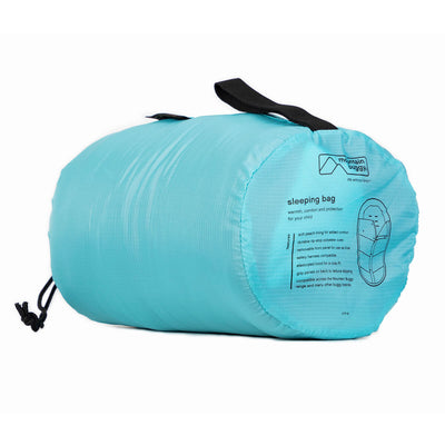 Mountain Buggy Sleeping Bag in Ocean rolled up
