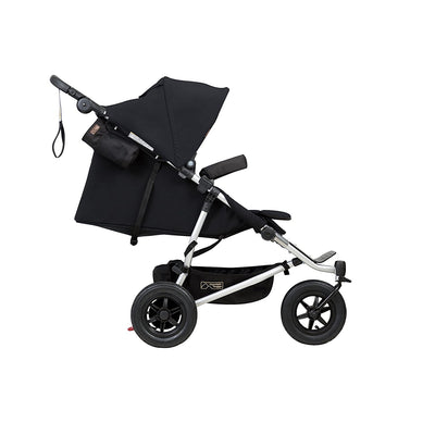 Mountain Buggy Duet V3 Double Stroller in Black side view