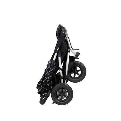 Mountain Buggy Duet V3 Double Stroller in Grid folded