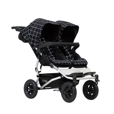 Mountain Buggy Duet V3 Double Stroller in Grid