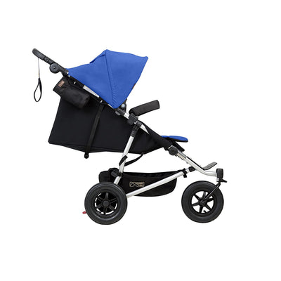 Mountain Buggy Duet V3 Double Stroller in Marine side view