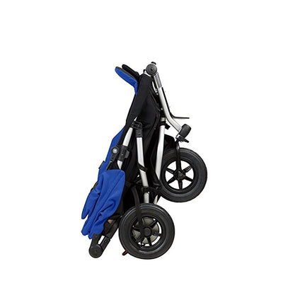 Mountain Buggy Duet V3 Double Stroller in Marine folded