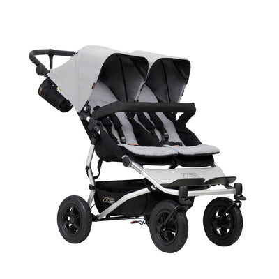 Mountain Buggy Duet V3 Double Stroller in Silver