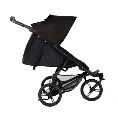 Mountain Buggy Mini Stroller in Black reclined