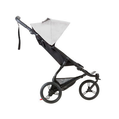 Mountain Buggy Mini Stroller in Silver side view