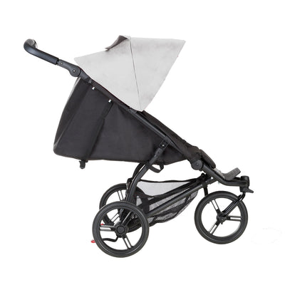 Mountain Buggy Mini Stroller in Silver reclined