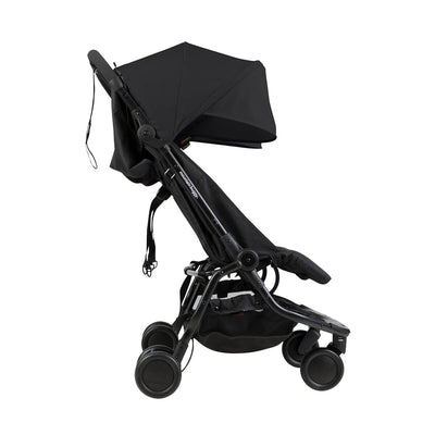 Mountain Buggy Nano Duo Stroller in Black side view