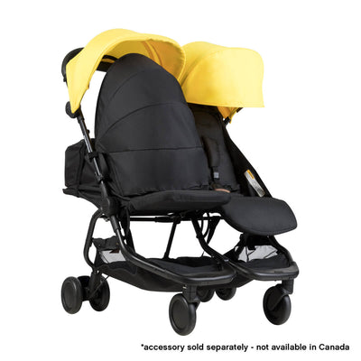 Mountain Buggy Nano Duo Stroller in Cyber with cocoon
