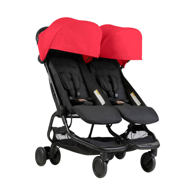 Mountain Buggy Nano Duo Stroller in Ruby