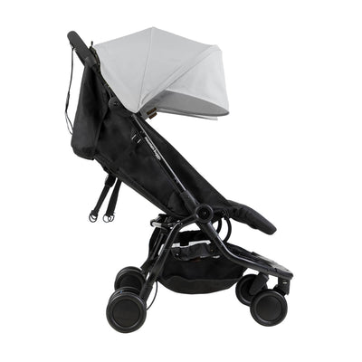 Mountain Buggy Nano Duo Stroller in Silver side view
