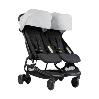 Mountain Buggy Nano Duo Stroller in Silver