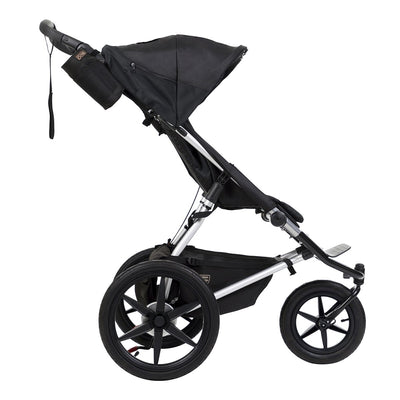 Mountain Buggy Terrain Active Jogging Stroller in Onyx side view