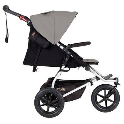 Mountain Buggy Urban Jungle Stroller in Silver side view reclined