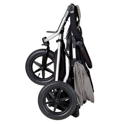 Mountain Buggy Urban Jungle Stroller in Silver folded