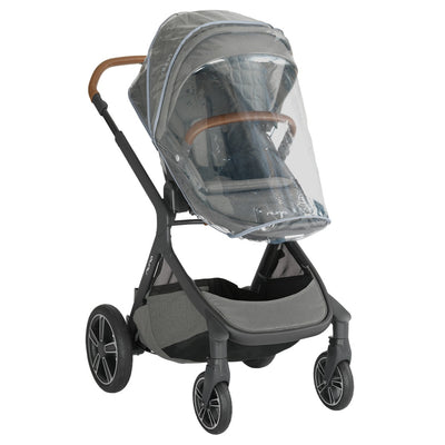 Nuna DEMI™ Grow Stroller in Oxford with rain cover