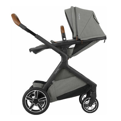 Nuna DEMI™ Grow Stroller in Oxford with seat reversed and reclined