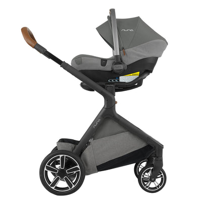 Nuna DEMI™ Grow Stroller in Oxford with PIPA Lite LX attached as a travel system