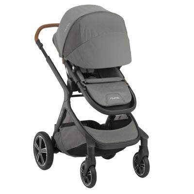 Nuna DEMI™ Grow Stroller in Oxford wit canopy extended