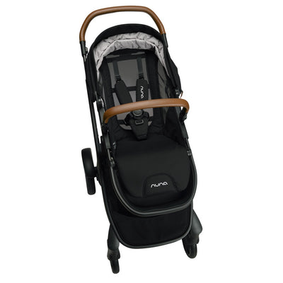 Nuna DEMI™ Grow Stroller + Adapters + Rain Cover + Magnetic Buckle in Caviar