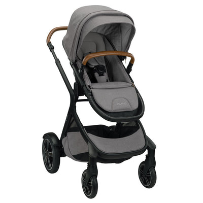 Nuna DEMI™ Grow Stroller + Adapters + Rain Cover + Magnetic Buckle in Frost