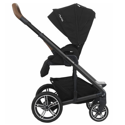 Nuna MIXX 2019 Stroller in Caviar side view with seat reversed