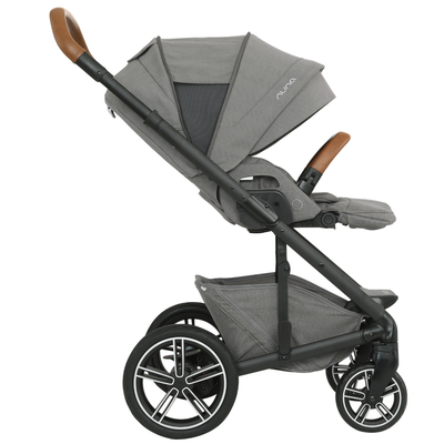 Nuna MIXX Stroller in Oxford side view and reclined