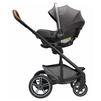 Nuna PIPA™ Lite R Infant Car Seat in Granite on MIXX Stroller as a travel system