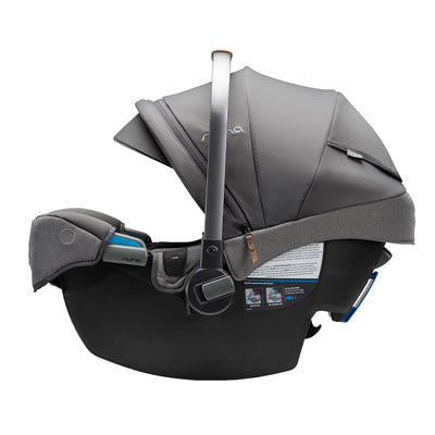 Nuna PIPA RX Infant Car Seat in Granite side view