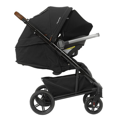 Nuna TAVO Travel System LX in Caviar with PIPA Lite LX attached