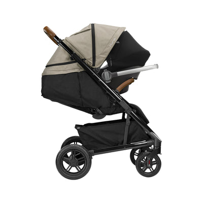 Nuna TAVO Next Stroller in Timber with Pipa car seat attached