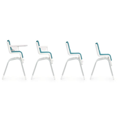 Nuna ZAAZ High Chair in different stages and heights