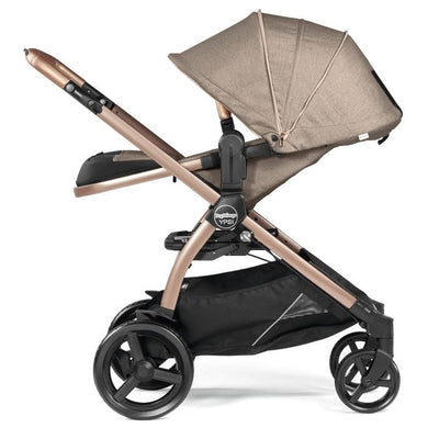 Peg Perego YPSI Stroller in Mon Amour Rose Gold with seat reclined