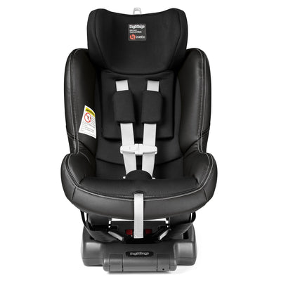 Peg Perego Viaggio Convertible Kinetic Car Seat in Licorice with headrest extended