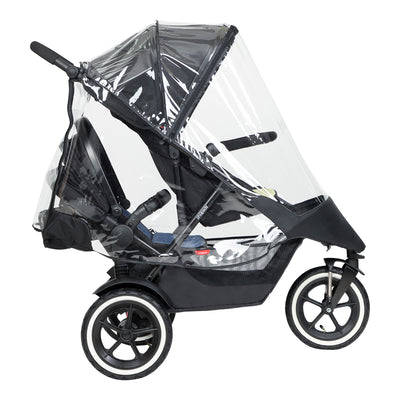 Phil&teds Storm Cover 2019+ on Sport stroller with double kit
